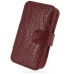 HTC Hero Leather Flip Cover (Red Croc) custom degsined carrying case by PDair