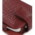 HTC Hero Leather Flip Case (Red Croc Pattern) genuine leather case by PDair