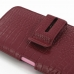 iPhone 6 6s Plus (in Slim Cover) Holster Case (Red Croc Pattern) handmade leather case by PDair