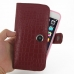 iPhone 6 6s Plus (in Slim Cover) Holster Case (Red Croc Pattern) top quality leather case by PDair