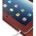 iPad 3G Leather Flip Carry Cover (Red Croc) handmade leather case by PDair