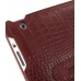 iPad 2 3 4 Leather Flip Carry Cover (Red Croc) handmade leather case by PDair