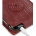 iPhone 3G 3Gs Leather Flip Case (Red Croc Pattern) protective carrying case by PDair