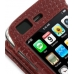 iPhone 3G 3Gs Leather Flip Case (Red Croc Pattern) genuine leather case by PDair