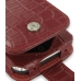 iPhone 3G 3Gs Leather Flip Case (Red Croc Pattern) top quality leather case by PDair