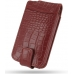 iPhone 3G 3Gs Leather Flip Case (Red Croc Pattern) custom degsined carrying case by PDair