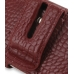 iPhone 4 4s Leather Holster Case (Red Croc Pattern) protective carrying case by PDair