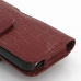 iPhone 5 5s (in Slim Cover) Holster Case (Red Croc Pattern) protective carrying case by PDair