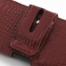 iPhone 5 5s (in Slim Cover) Holster Case (Red Croc Pattern) handmade leather case by PDair