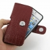 iPhone 5 5s (in Slim Cover) Holster Case (Red Croc Pattern) genuine leather case by PDair