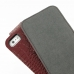 iPhone 5 5s Leather Flip Top Case (Red Croc Pattern) genuine leather case by PDair