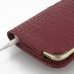 iPhone 6 6s Leather Holster Case (Red Croc Pattern) protective carrying case by PDair