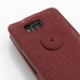 Motorola Droid Razr Maxx HD Leather Flip Top Case (Red Croc Pattern) protective carrying case by PDair