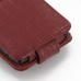 Motorola Razr i Leather Flip Case (Red Croc Pattern) protective carrying case by PDair