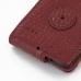Motorola Razr i Leather Flip Case (Red Croc Pattern) handmade leather case by PDair