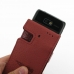 Motorola Razr i Leather Flip Case (Red Croc Pattern) genuine leather case by PDair