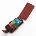 Motorola Razr i Leather Flip Case (Red Croc Pattern) top quality leather case by PDair