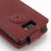 Motorola Razr i Leather Flip Top Case (Red Croc Pattern) protective carrying case by PDair
