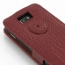 Motorola Razr i Leather Flip Top Case (Red Croc Pattern) handmade leather case by PDair
