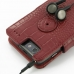 Motorola Droid Razr Maxx Leather Flip Cover (Red Croc) handmade leather case by PDair