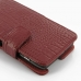 Motorola Droid Razr Maxx Leather Flip Cover (Red Croc) genuine leather case by PDair