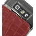 Nokia E71 Leather Sleeve Pouch Case (Red Croc Pattern) protective carrying case by PDair