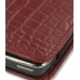 Nokia E71 Leather Sleeve Pouch Case (Red Croc Pattern) handmade leather case by PDair