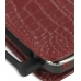 Nokia E71 Leather Sleeve Pouch Case (Red Croc Pattern) genuine leather case by PDair