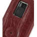 Nokia N900 Leather Flip Case (Red Croc Pattern) protective carrying case by PDair