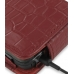 Nokia N900 Leather Flip Case (Red Croc Pattern) genuine leather case by PDair