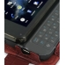 Nokia N900 Leather Flip Case (Red Croc Pattern) top quality leather case by PDair