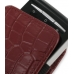 Sony Ericsson Xperia X10 Mini Pouch Case with Belt Clip (Red Croc) handmade leather case by PDair