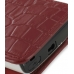 Sony Ericsson Xperia X10 Mini Pouch Case with Belt Clip (Red Croc) genuine leather case by PDair