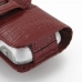 Samsung Galaxy S4 zoom Leather Holster Case (Red Croc Pattern) protective carrying case by PDair