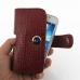Samsung Galaxy S4 zoom Leather Holster Case (Red Croc Pattern) top quality leather case by PDair