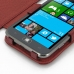 Samsung Ativ S Leather Flip Cover (Red Croc) genuine leather case by PDair