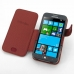 Samsung Ativ S Leather Flip Cover (Red Croc) top quality leather case by PDair