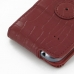Samsung Galaxy S Duos Leather Flip Case (Red Croc Pattern) protective carrying case by PDair