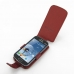Samsung Galaxy S Duos Leather Flip Case (Red Croc Pattern) top quality leather case by PDair