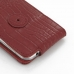 Samsung Galaxy S4 Leather Flip Case (Red Croc Pattern) protective carrying case by PDair