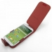Samsung Galaxy S4 Leather Flip Case (Red Croc Pattern) top quality leather case by PDair