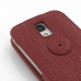 Samsung Galaxy S4 Leather Flip Top Case (Red Croc Pattern) protective carrying case by PDair