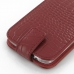 Samsung Galaxy S4 Leather Flip Top Case (Red Croc Pattern) handmade leather case by PDair