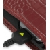 Samsung Omnia i908 i900 Pouch Case with Belt Clip (Red Croc Pattern) handmade leather case by PDair