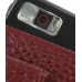 Samsung Omnia i908 i900 Pouch Case with Belt Clip (Red Croc Pattern) genuine leather case by PDair
