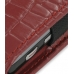 Samsung Omnia i908 i900 Pouch Case with Belt Clip (Red Croc Pattern) custom degsined carrying case by PDair
