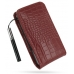 Samsung Omnia i908 i900 Pouch Case with Belt Clip (Red Croc Pattern) offers worldwide free shipping by PDair