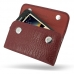 Samsung Galaxy Note Leather Sleeve Pouch (Red Croc Pattern) custom degsined carrying case by PDair