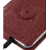 Samsung Galaxy Note Leather Flip Case (Red Croc Pattern) protective carrying case by PDair