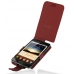 Samsung Galaxy Note Leather Flip Case (Red Croc Pattern) custom degsined carrying case by PDair